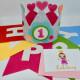 Geburtstagskrone Pink mit Einladungskarte und Geburtstagsgirlande